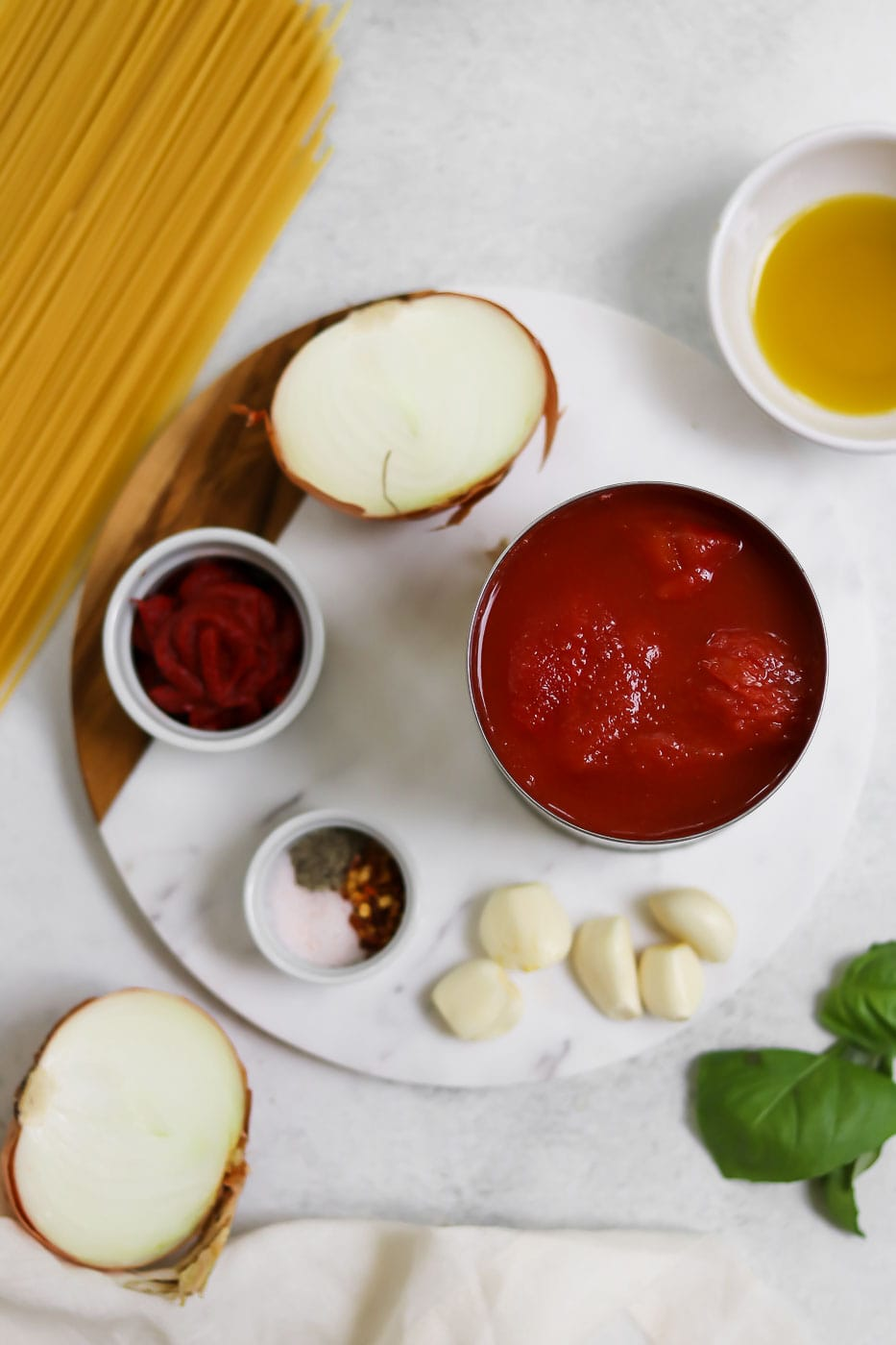 Ingredients for the recipe on a white backdrop.