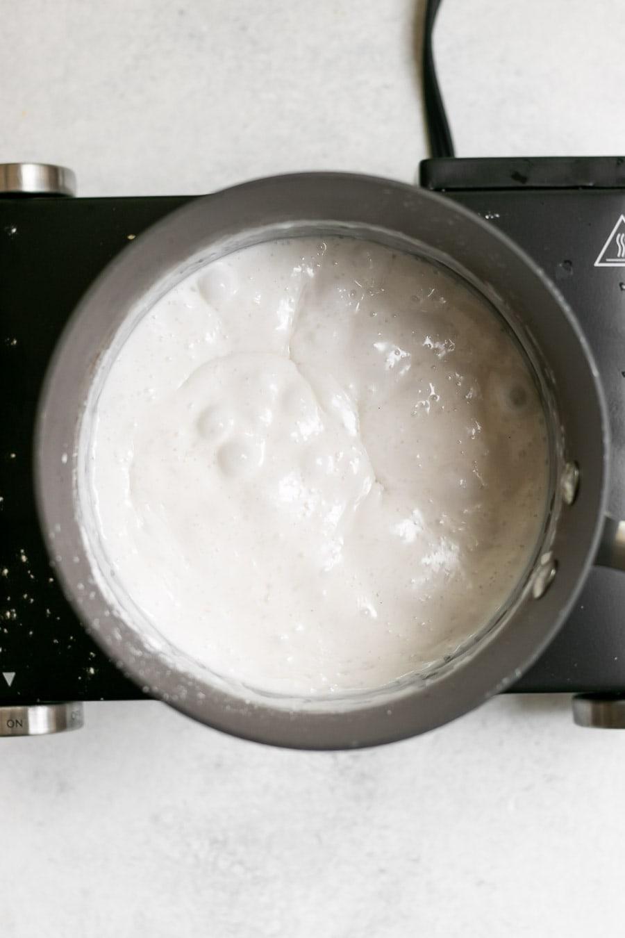 Process shot of making the recipe.