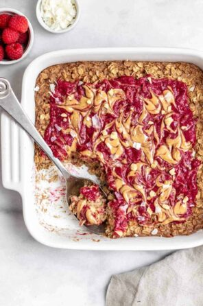 Vegan PB & J Baked Oatmeal