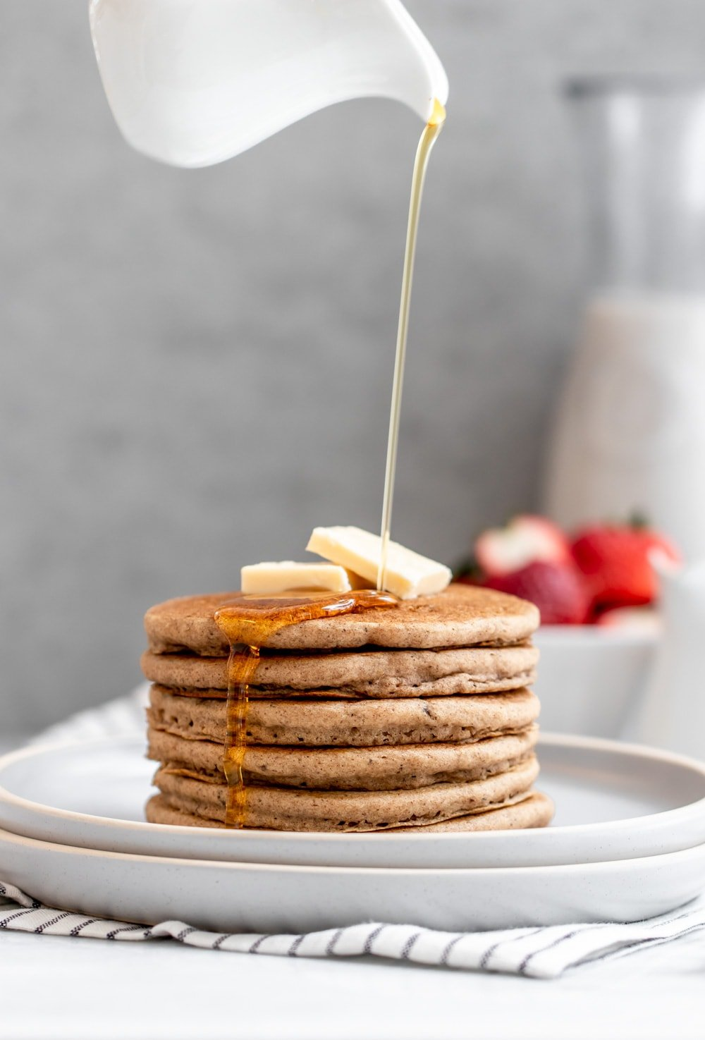 Fluffy Vegan Buckwheat Pancakes Gf Eat With Clarity