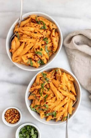 Creamy Vegan Tomato Basil Pasta