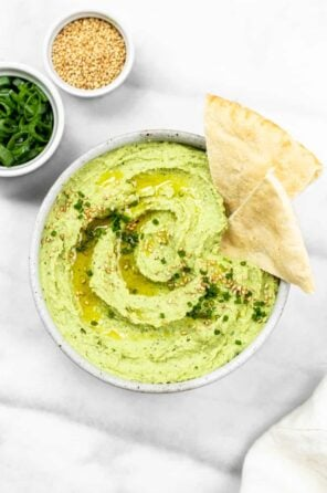 Creamy Avocado & Edamame Hummus