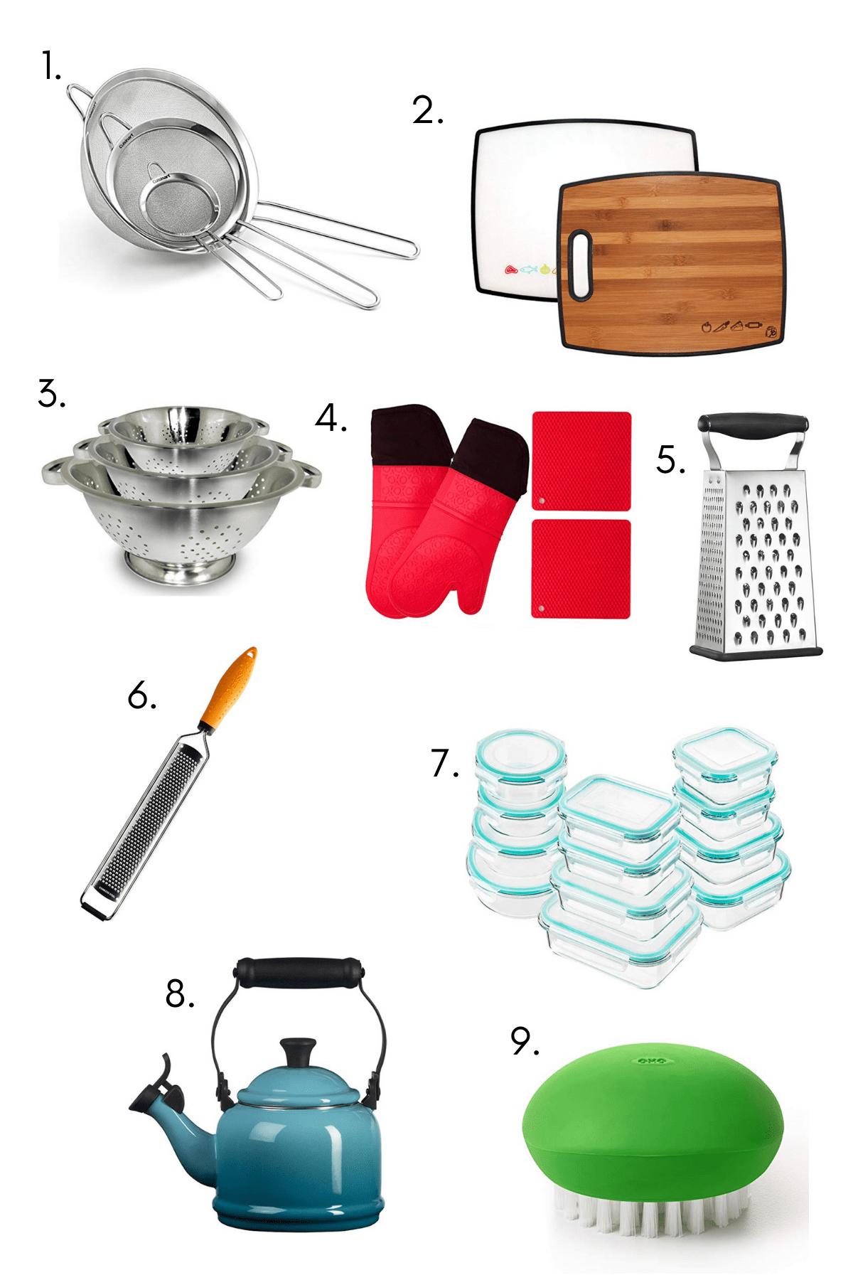 Miscellaneous kitchen essentials image.