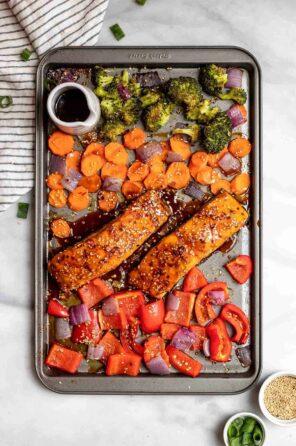 Sheet Pan Maple Soy Glazed Salmon