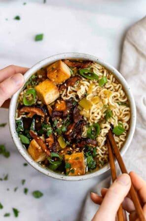 Vegan Ramen Noodles with Shiitake Mushrooms