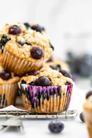 Vegan Blueberry Oatmeal Muffins