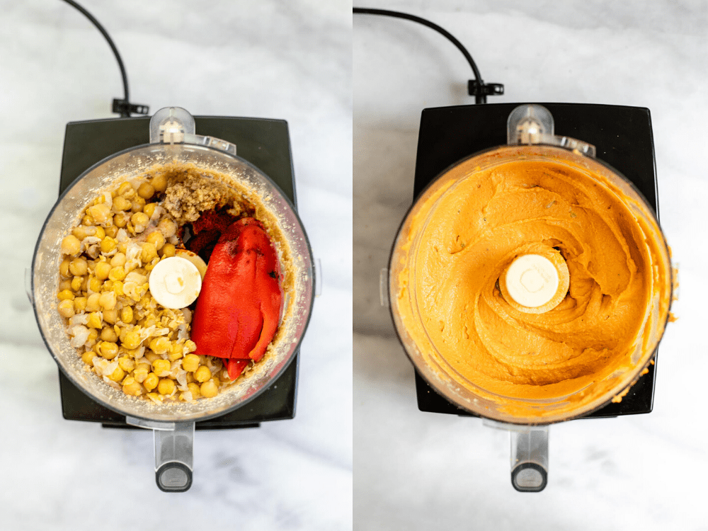 Two images showing the process for making this recipe.