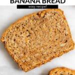 one slice of vegan banana bread pin