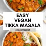 easy vegan tikka masala