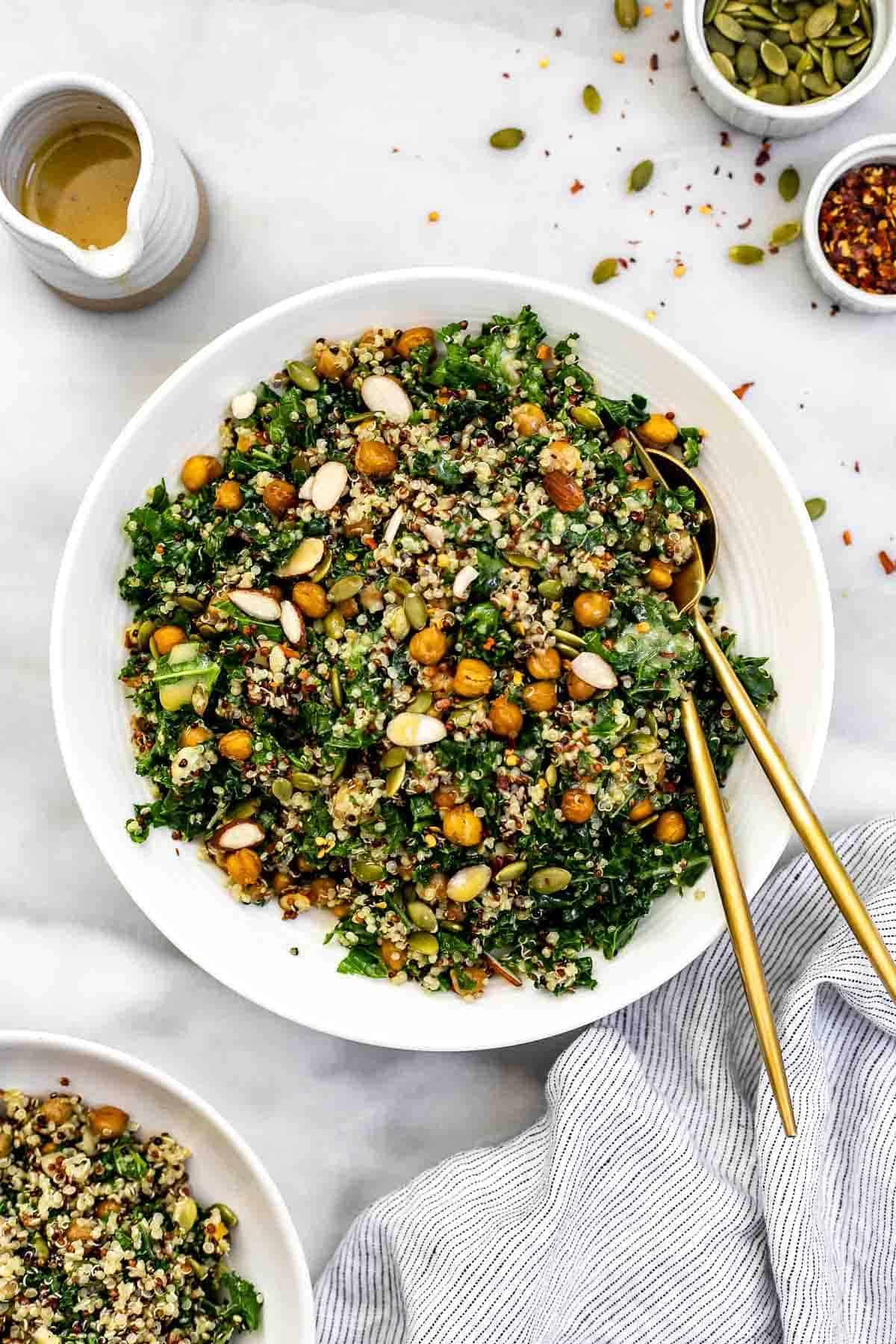 Kale Quinoa Salad Lemon Dijon Dressing Eat With Clarity