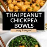 chickpea buddha bowl with kale