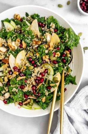 Kale and Apple Salad with Honey Dijon Vinaigrette