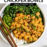 peanut chickpea bowls