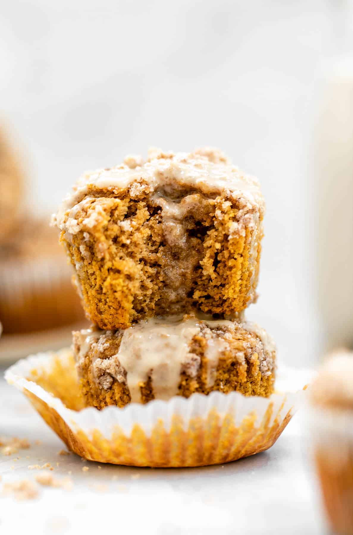 Sweet potato muffins with cinnamon streusel topping.