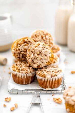 Sweet Potato Muffins with Cinnamon Streusel