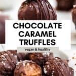 caramel truffles in a bowl