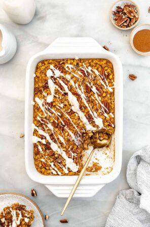 Easy Baked Pumpkin Oatmeal