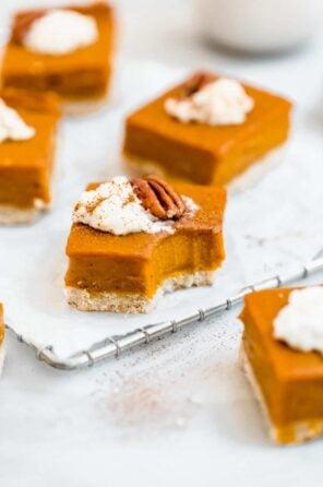 Vegan Sweet Potato Pie Bars