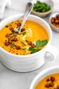 vegan butternut squash soup.