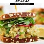 chickpea avocado salad sandwich