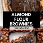 almond flour brownie batter