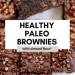 almond flour brownies on parchment paper