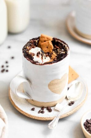 Gluten Free Chocolate S'mores Mug Cake