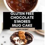 gluten free chocolate mug cake pin