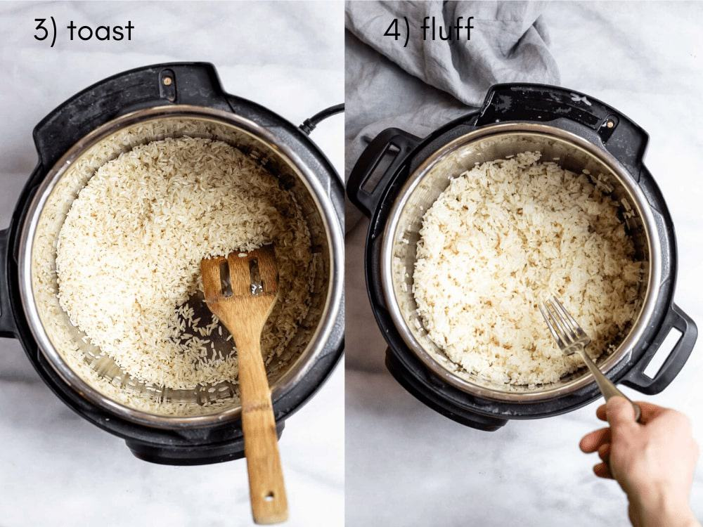 Process of making the recipe.