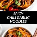 spicy garlic noodles pinterest image