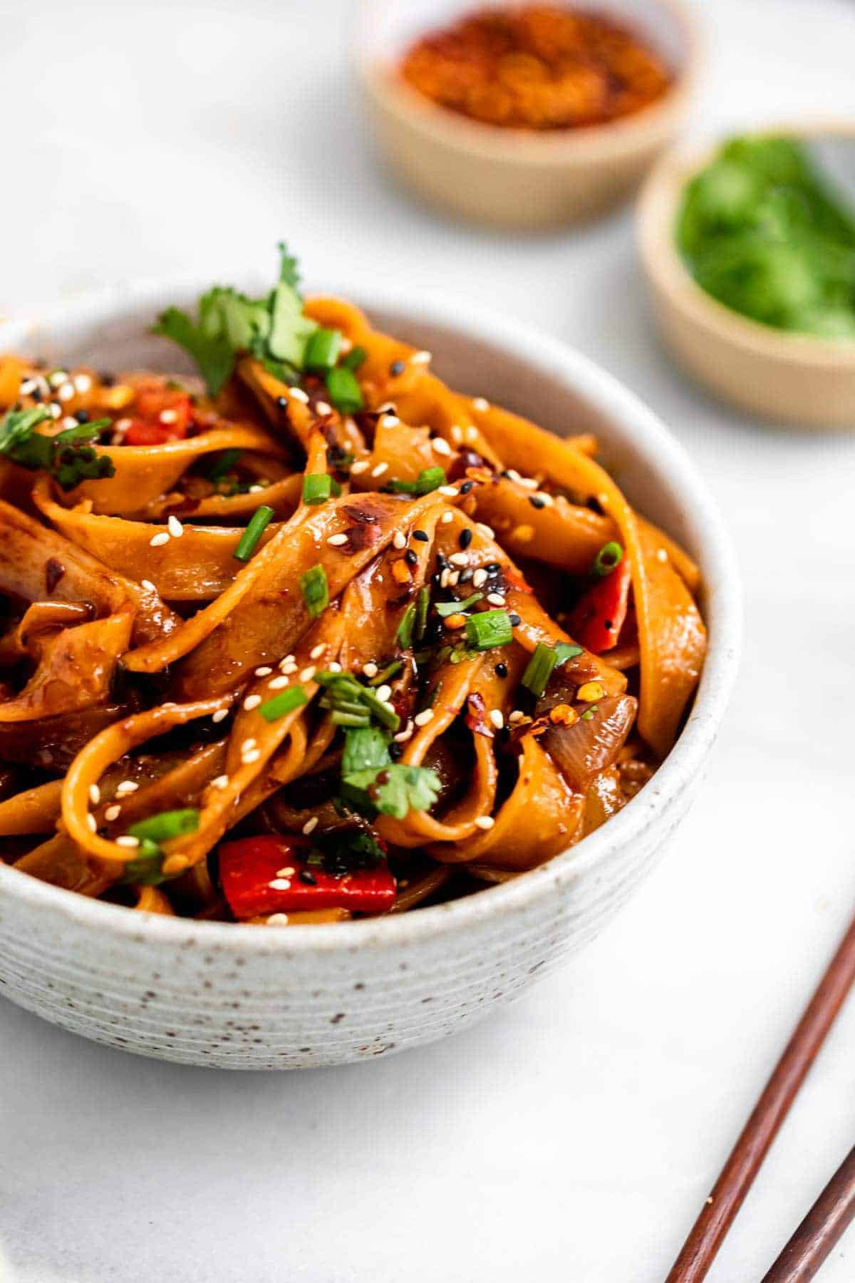 Spicy Chili Garlic Noodles 15 Minute Recipe Eat With Clarity