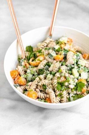 Vegan Pasta Salad with Creamy Lemon Dressing