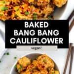 bang bang cauliflower wings in a bowl