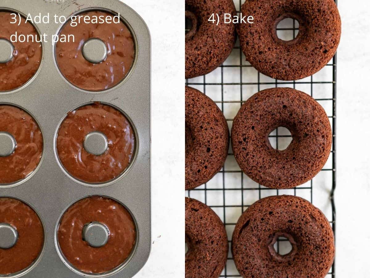 donuts before and after baking