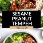 sesame peanut tempeh with broccoli