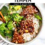 peanut tempeh in a bowl