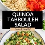 quinoa tabbouleh salad with chickpeas