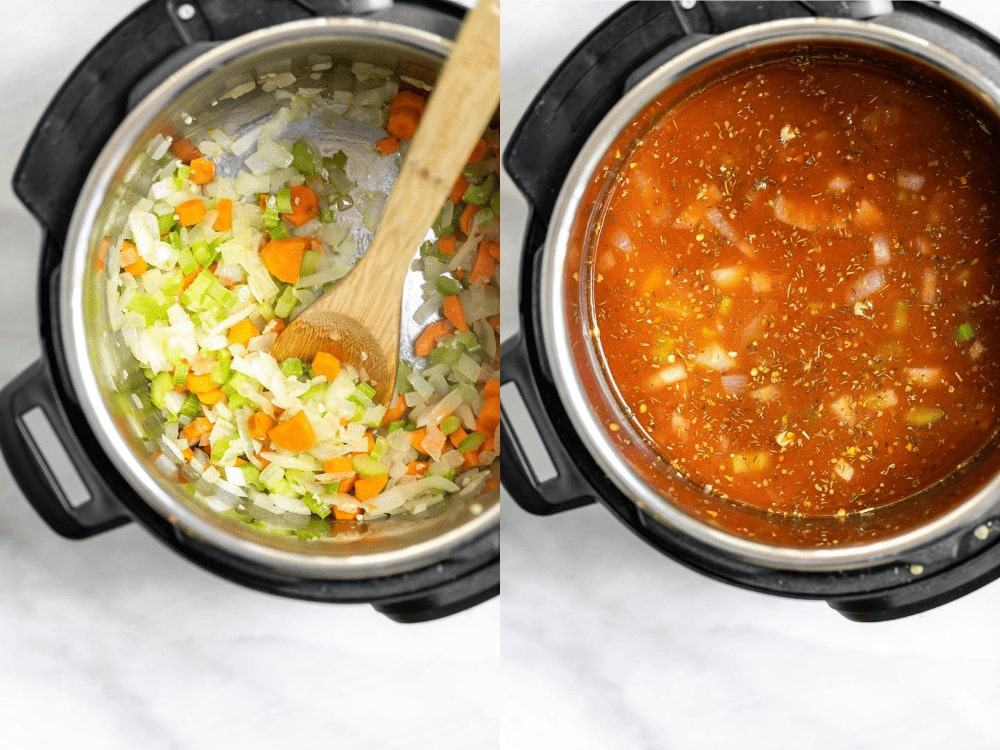 showing the process of making the recipe