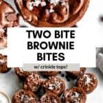 brownie bites with salt