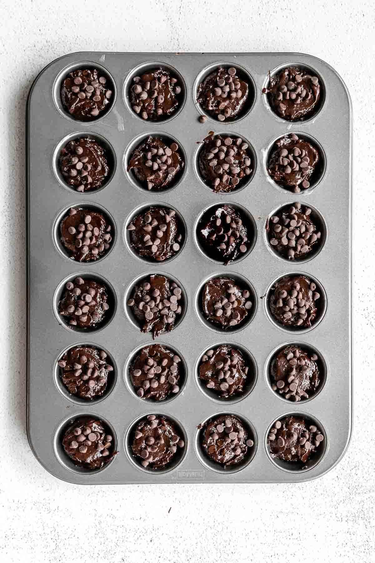 brownies in a baking pan