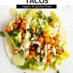 vegan chickpea tacos pin