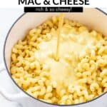 Baked vegan mac and cheese in a pot