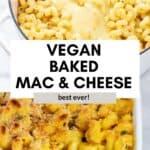 Baked vegan mac and cheese pin