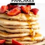 vegan protein pancakes pin