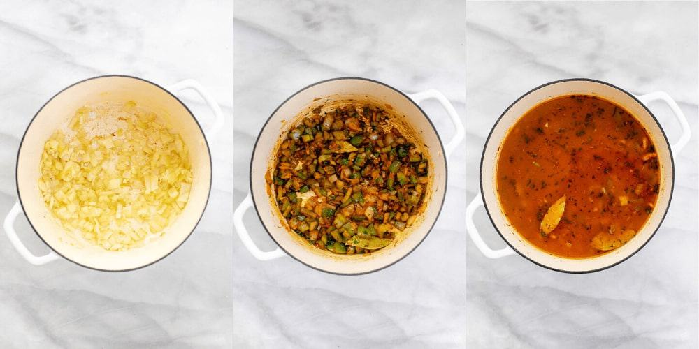 Three images showing how to make the recipe.