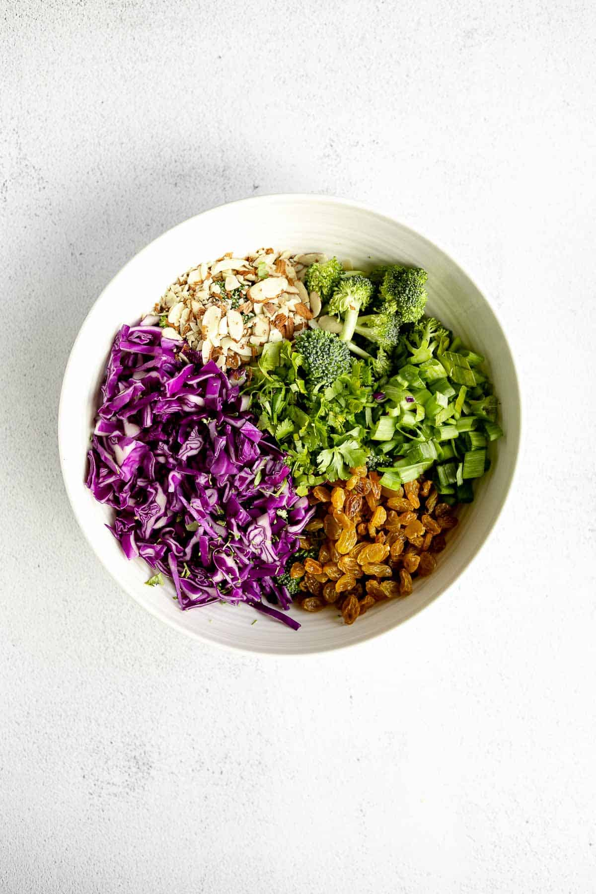 ingredients for the salad in a bowl