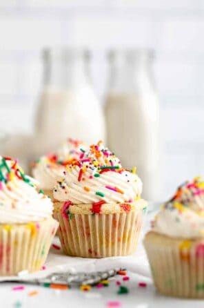 Vegan Gluten Free Funfetti Cupcakes